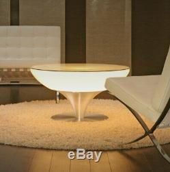 LED Illuminated Coffee Table & Cube Chair Color Changing Cocktail Event Portable