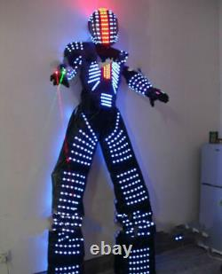 LED Robot Clothing Costume Suit Illuminated Dance Remote Control 7 Color Change