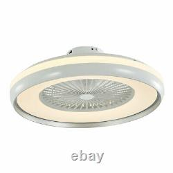 LED Round Ceiling Fan Light 23.5 Modern 3 Color Change Lamp Remote Control FAST