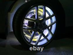 Large 18 Inch Four Chasing Chase LED Wireless Wheel Rings Lights Color Changing