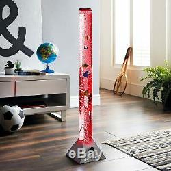 Large 90cm Colour Changing LED Sensory Water Tube Bubble Lamp with Fish SILVER