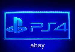 Large PlayStation 4 LED Sign Neon Light Color Changing GAME ROOM PS4 NINTENDO