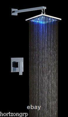 Led Shower Set with 10-Inch Shower Head Temperature Changing Color Sensor