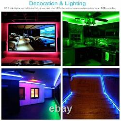 Led Strip Lights 16.4 ft 5m Flexible Color Changing 12V Power Supply 5050 RGB