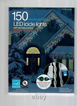 Lot Of 10 Strings Christmas Holiday LED Icicle Lights 150 LED Lights/String