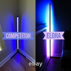 MADE IN THE USA ELORA by PoLED Minimalist LED Corner Floor Lamp