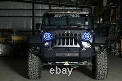 MONSTER Stage 3 LED Headlights Jeep Wrangler HIDprojectors Color Changing 7