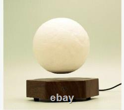 Magnetic Levitating Moon Room Lamp 2 Colours Night Light floating Spinning Gift