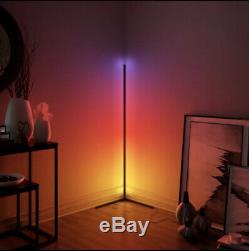 Minimalist LED Corner Floor Lamp Colour Changing License 33-Smd 42mm
