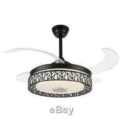 Modern Ceiling Fan Lights with Invisible Blades and Remote Contro 3 Color Change