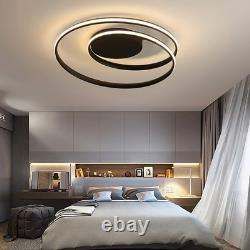 Modern Ceiling Lights LED Lamp Living Room Bedroom Dimmable Remote Control 48W