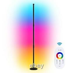 Modern RGB Lamp LED Corner Floor Lamp Light Strip for Living Room With Remote