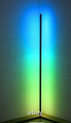 Modern RGB Minimalist LED Corner Floor Lamp Strip Dimmable Mood Light + Remote
