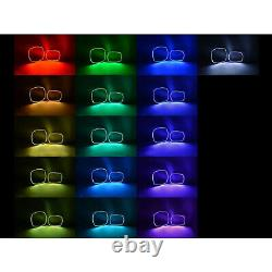 Multi-Color Changing LED RGB Headlight Halo Ring Set For 2011-14 Dodge Charger