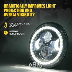 Muti-Color Bluetooth DOT Halo LED RGB Headlights Fog lights For Jeep Wrangler JK