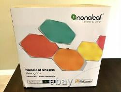 NEW! Nanoleaf Hexagon Color Changing Light Panels Smarter Kit 7 Panels