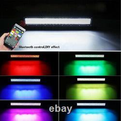 Offroad 5D Led Light Bar Spot Flood Combo 6000K White, RGB Multi Color Changing