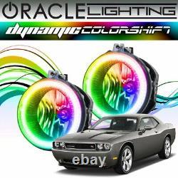 Oracle Dynamic ColorSHIFT LED Fog Light Halo Kit For 2008-2014 Dodge Challenger