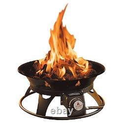 Outdoor Fire Pit Propane Gas Outland Garden Fire bowl Portable with Cover Yard