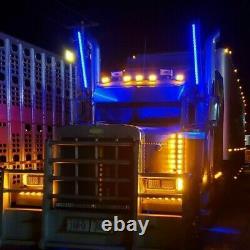 Pair 3FT Lighted Spiral LED Whip Antenna 2 Flag Remote Semi Trucks Rig 4Wheeler