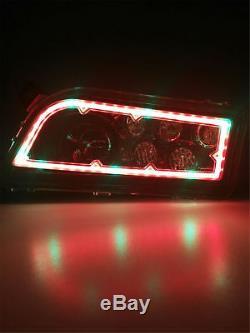 Pair Color Changing CREE RGB LED Headlights For POLARIS RZR XP 900 1000 ATV UTV