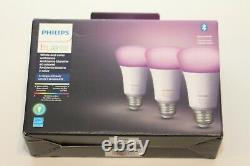 Philips Hue 562785 White & Color Ambiance A19 LED Smart Bulb 3-Pack OPEN BOX