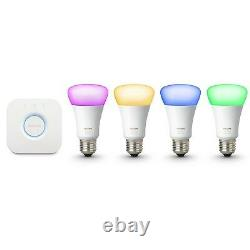 Philips Hue Gen 3 60W A19 White & Color Ambiance Smart 4 Bulb Kit 471960