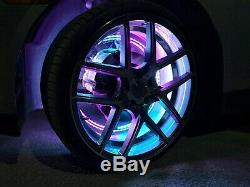 Pro 15.5 Four Chasing Chase LED Wireless Wheel Rings Lights Color Changing