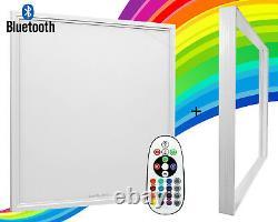 RGB Colour Changing LED Ceiling Panel Light 40W Bluetooth Smart Tile 600 x 600