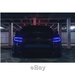 RGBW LED Multi-Color Changing Headlight Accent Pair For 2015-2018 Dodge Charger