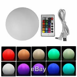 Rechargeable LED Ball Light RGBW Glow Ball Wireless NIght Light IP65 Waterproof
