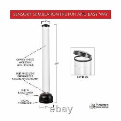 Sensory LED Bubble Tube 3 Foot Tank With 8 Fake Fish Floor Lamp with 7 Ch
