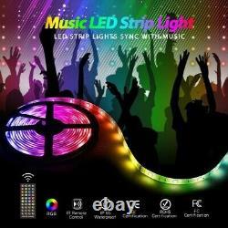 Smart wifi led strip lights 32.8ft 5050 LED Tape Lights music Sync 40key remote