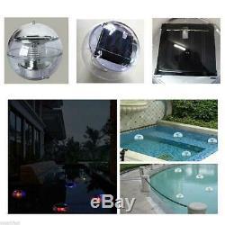 Solar Power LED Floating Lights Garden Pond Pool Lamp Color Changing Waterproof
