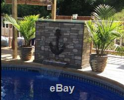 Swimming Pool Pond Sheer Descent Waterfall Curtain Fountain with LED Feature