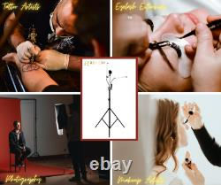 Tattoo Light Dual Arm LED Portable with Cell Phone Holder (5800K)