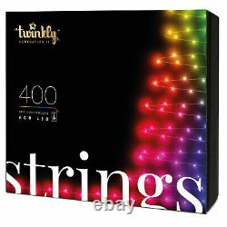 Twinkly 400 LED RGB 105 Ft. Decorative String Lights, Bluetooth WiFi (Open Box)
