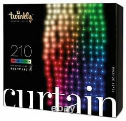 Twinkly App Control curtain Light With 210 Multicolor RGB+W LED Lights