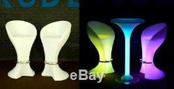 UZO1 Illuminated/Lighted Color Changing Led Bar Chairs / Stools WithRemote Control
