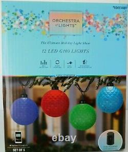 WIFI HUB + 36 LED BALL 3x GEMMY ORCHESTRA OF LIGHTS STRING COLOR-CHANGING G100